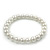 Classic White Simulated Glass Pearl Flex Bracelet - 8mm diameter/Up to 20cm Length - view 2