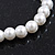 Classic White Simulated Glass Pearl Flex Bracelet - 8mm diameter/Up to 20cm Length - view 5