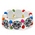 White Wooden 'Mexican Candy Skull' Flex Bracelet - Adjustable - view 2