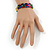 Multicoloured Wooden 'Hemp Leaf' Stretch Bracelet - Adjustable - view 4