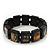 """Black Bob Marley """"One Love"""" Wooden Stretch Bracelet - up to 20cm length - view 4"""