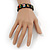 """Black Bob Marley """"One Love"""" Wooden Stretch Bracelet - up to 20cm length - view 6"""