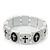 White/Black Wood Flex 'Cross' Bracelet - up to 20cm Length - view 2