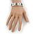 White/Black Wood Flex 'Cross' Bracelet - up to 20cm Length - view 4