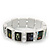 """White Bob Marley """"One Love"""" Wooden Stretch Bracelet - up to 20cm length - view 5"""