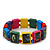 "Multicoloured Bob Marley ""One Love"" Wooden Stretch Bracelet - up to 20cm length - view 4"