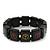 Black Wooden 'Peace' Flex Bracelet - Adjustable - view 4
