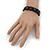 Black Wooden 'Peace' Flex Bracelet - Adjustable - view 3