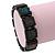 Black Wooden 'Peace' Flex Bracelet - Adjustable - view 2