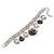 Vintage 'Rose&Heart' Mesh Charm Bracelet In Burn Silver Metal - 17cm Length/ 4cm Extension - view 8