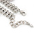 Vintage 'Rose&Heart' Mesh Charm Bracelet In Burn Silver Metal - 17cm Length/ 4cm Extension - view 5