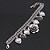 Vintage 'Rose&Heart' Mesh Charm Bracelet In Burn Silver Metal - 17cm Length/ 4cm Extension - view 4