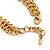 Vintage 'Rose&Heart' Mesh Charm Bracelet In Burn Gold  Metal - 17cm Length/ 4cm Extension - view 6