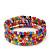 Teen's Multicoloured Glass Bead Multistrand Bracelet - Adjustable - view 2