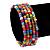 Teen's Multicoloured Glass Bead Multistrand Bracelet - Adjustable