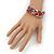 Teen's Multicoloured Glass Bead Multistrand Bracelet - Adjustable - view 4