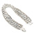 Bridal/ Wedding/ Prom/ Party Swarovski Crystal Bracelet In Rhodium Plating - 17cm Length