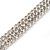 3 Row Swarovski Crystal Bridal Bracelet In Rhodium Plating - 17cm Length - view 7
