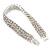 3 Row Swarovski Crystal Bridal Bracelet In Rhodium Plating - 17cm Length - view 2