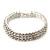 3 Row Swarovski Crystal Bridal Bracelet In Rhodium Plating - 17cm Length - view 13