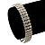 3 Row Swarovski Crystal Bridal Bracelet In Rhodium Plating - 17cm Length
