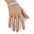 3 Row Swarovski Crystal Bridal Bracelet In Rhodium Plating - 17cm Length - view 3