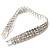 3 Row Swarovski Crystal Bridal Bracelet In Rhodium Plating - 17cm Length - view 4