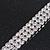 3 Row Swarovski Crystal Bridal Bracelet In Rhodium Plating - 17cm Length - view 9