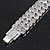3 Row Swarovski Crystal Bridal Bracelet In Rhodium Plating - 17cm Length - view 12