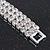 3 Row Swarovski Crystal Bridal Bracelet In Rhodium Plating - 17cm Length - view 11