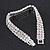 3 Row Swarovski Crystal Bridal Bracelet In Rhodium Plating - 17cm Length - view 10