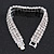 3 Row Swarovski Crystal Bridal Bracelet In Rhodium Plating - 17cm Length - view 6