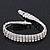 3 Row Swarovski Crystal Bridal Bracelet In Rhodium Plating - 17cm Length - view 14