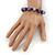 Purple Acrylic/Diamante Bead Children/Girls/ Petites Teen Buddhist Bracelet On Deep Purple String - Adjustable - view 4