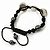 Silver Plated Swarovski Crystal Skull and Hematite Bead Buddhist Bracelet - Adjustable - 23mm Diameter - view 5