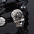 Silver Plated Swarovski Crystal Skull and Hematite Bead Buddhist Bracelet - Adjustable - 23mm Diameter - view 8