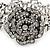Vintage Crystal Rose Flex Bracelet In Burn Silver Metal - Up to 21cm Length - view 10