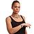 Vintage Crystal Rose Flex Bracelet In Burn Silver Metal - Up to 21cm Length - view 8