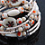 Vintage Style 'Daisy' Glass&Ceramic Bead Coil Flex Bracelet - Light Cream - view 3