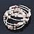 Vintage Style 'Daisy' Glass&Ceramic Bead Coil Flex Bracelet - Light Cream - view 6