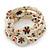 Vintage Style 'Daisy' Glass&Ceramic Bead Coil Flex Bracelet - Light Cream - view 7