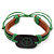 Unisex Dark Brown/ Green Leather 'Peace' Friendship Bracelet - Adjustable - view 5