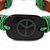 Unisex Dark Brown/ Green Leather 'Peace' Friendship Bracelet - Adjustable - view 2