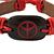 Unisex Dark Brown/ Red Leather 'Peace' Friendship Bracelet - Adjustable - view 3