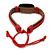 Unisex Dark Brown/ Red Leather 'Peace' Friendship Bracelet - Adjustable - view 4