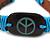 Unisex Dark Brown/ Light Blue Leather 'Peace' Friendship Bracelet - Adjustable - view 2