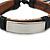 Unisex Black Leather Friendship Bracelet - Adjustable - view 2