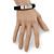 Unisex Black Leather Friendship Bracelet - Adjustable - view 4
