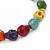 Multicoloured 'Skull' Stone Bead Flex Bracelet - 10mm - up 20cm Length - view 3