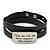 Black Leather 'Live the Life you have imagined' inscription by Henry Thoreau Wrap Bracelet (Silver Tone) - Adjustable